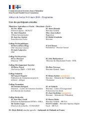 Télécharger la liste des participants et le programme complet de la ...