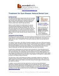 Treatment for Gum Disease :: Natural Dental Care - Ascended Health