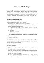 Oral Antidiabetic Drugs