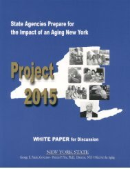 White Paper - New York State Office for the Aging