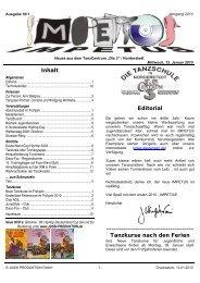 Inhalt Editorial Tanzkurse nach den Ferien - TanzCentrum Die 3