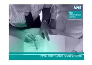 NHS I f ti i t NHS Information requirements - PRIMIS