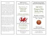 Fall 2011 Dragons Elite Skills Clinic - Glenelg Country School