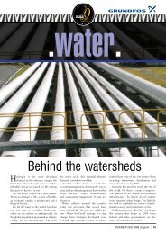 Behind the watersheds - WME magazine