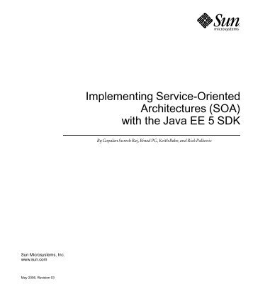 Implementing Service-Oriented Architectures (SOA) - Java