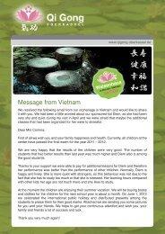 Message from Vietnam - Qi Gong Oberkassel