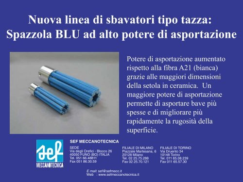 Catalogo SEFXEBEC Spazzola Blu.pdf - SEF meccanotecnica