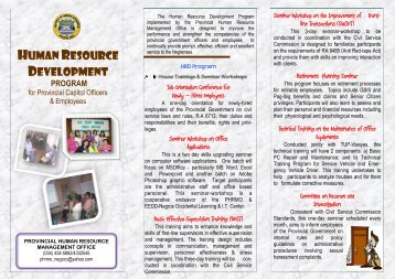 HUMAN RESOURCE DEVELOPMENT - Negros Occidental