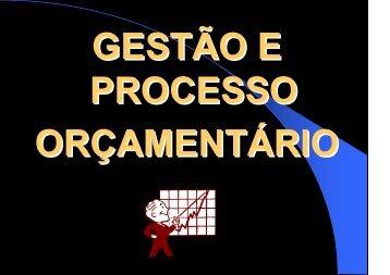 Gestão e Processo Orçamentário - Assembleia Legislativa do ...