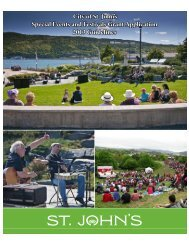 Special Events and Festivals Grant Application ... - City of St. John's