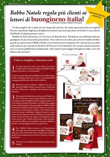 Babbo Natale regala più clienti ai lettori di buongiorno italia!