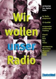 ASTRASTAR Das digitale  Radio 85 Radio- programme CD-Qualität ...