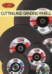 CUTTING AND GRINDING WHEELS - Carbochim SA