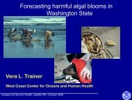 Forecasting Harmful Algal Blooms in the Pacific Northwest