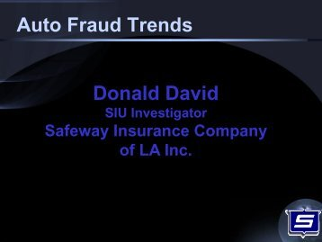 Auto Fraud Trends - Louisiana Department of Insurance