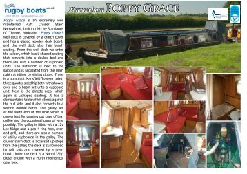 Narrowboat POPPy GRACE - Rugby Boat Sales