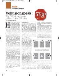 Bluff Magazine Collusionspeak Article - Richard Marcus