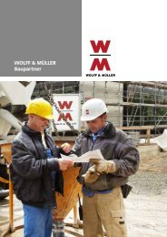 Weitere Informationen erhalten Sie in unserer ... - Wolff & Müller