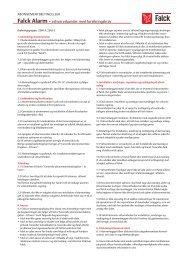 Falck Alarm - erhvervskunder med forsikringskrav