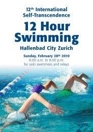 12 Hour Swimming - Sri Chinmoy Marathon Team - Schweiz