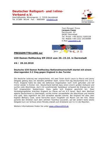 Deutscher Rollsport- und Inline- Verband e.V. - Rollhockey