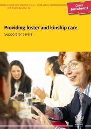 Support for carers - Department of Communities, Child Safety and ...