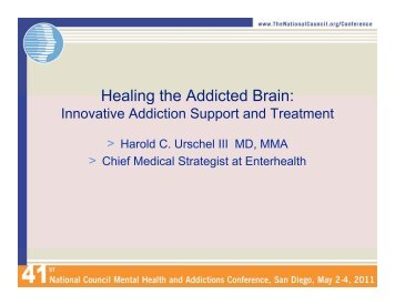 Healing the Addicted Brain - The National Council