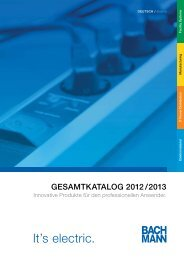 Bachmann Produktkatalog - Monitorhalterung.de