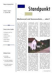 Standpunkt Jahrgang 1, Ausgabe 2, September 2002