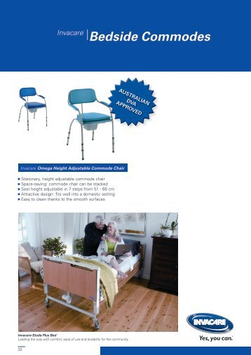 Bedside Commodes - Invacare