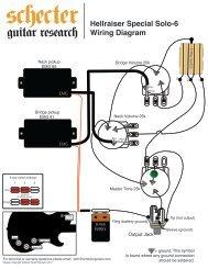 HELLRAISER SPECIAL SOLO 6 WIRING DIAGRAM - Schecter Guitars