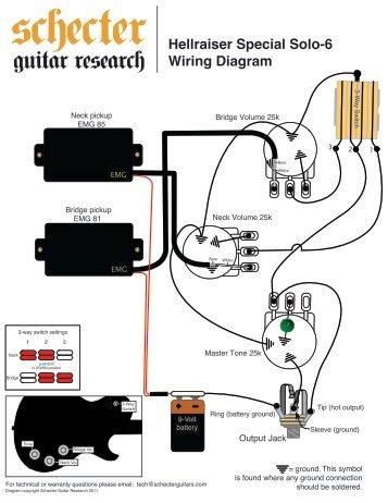 HELLRAISER SOLO WIRING DIAGRAM Schecter Guitars - Taylor guitar wiring diagram