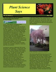 May 2009 - Department of Plant Sciences & Plant Pathology