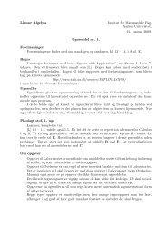 Lineær Algebra Institut for Matematiske Fag, Aarhus Universitet. 21 ...