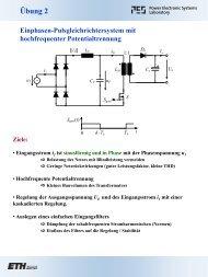 Ãœbung 2 Teil A - Power Electronics Systems Laboratory