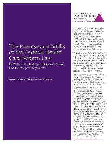 FULL PDF - Alliance for Advancing Nonprofit Health Care