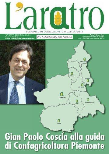 Gian Paolo Coscia alla guida di Confagricoltura Piemonte