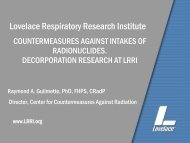 Lovelace Respiratory Research Institute - Blsmeetings.net