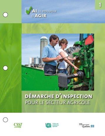 (1.92 mo )Démarche d'inspection pour le secteur agricole - CSST
