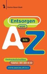 richtig Entsorgen von  A-Z - Tiefbauamt - Basel-Stadt