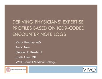Deriving Physicians - VIVO