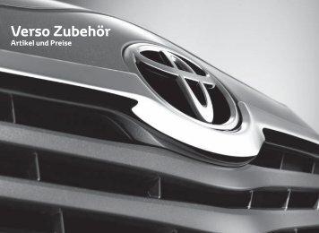 Verso Zubehör - Toyota