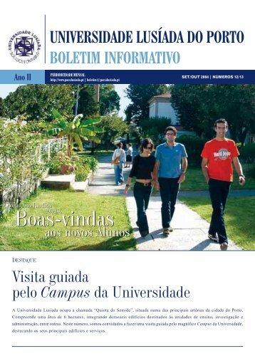 Boas-vindas Boas-vindas - Universidade Lusíada Porto