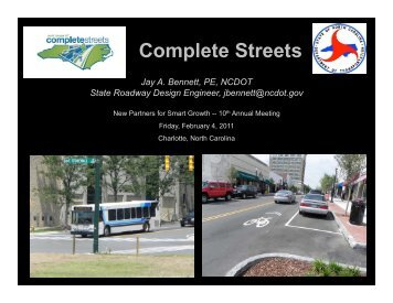 Complete Streets - New Partners for Smart Growth Conference