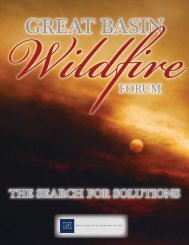 Great Basin Wildfire Forum 2008 - The Nevada Department of ...