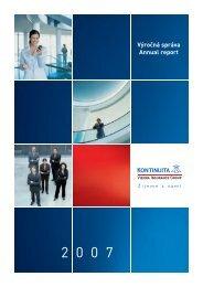 Výročná správa 2007