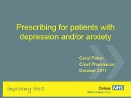 Prescribing for patients with depression and/or anxiety - Carol Paton ...