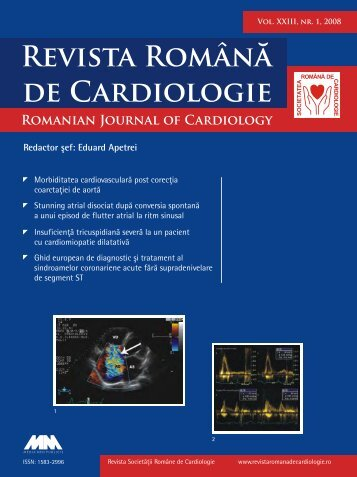 Nr. 1, 2008 - Romanian Journal of Cardiology