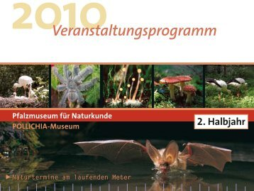 2. Halbjahr Veranstaltungsprogramm - Pfalzmuseum für Naturkunde