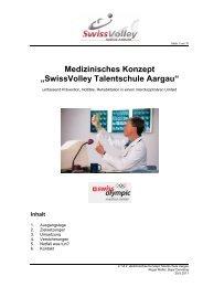 Medizinisches Konzept - Regionaler Volleyballverband Aargau